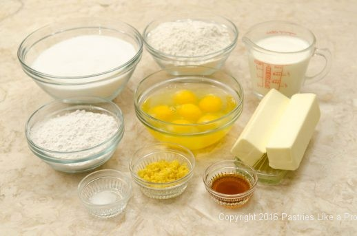 Ingredients for the Lemon Rum Bundt Cake