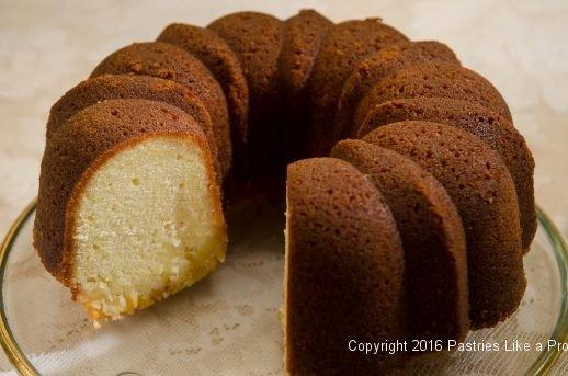 Cut Lemon Rum Bundt Cake