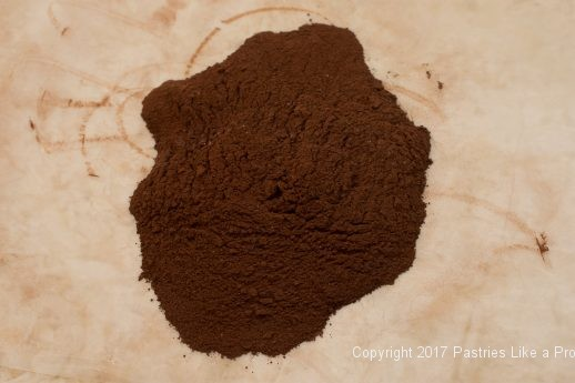 Cocoa and baking powder mixed for the Decadent Gluten Free Turtle Cake