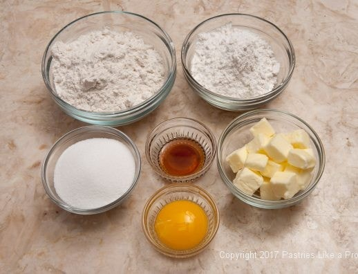 Crumb ingredients for Easily Made Raspberry Ripple Coffeecake