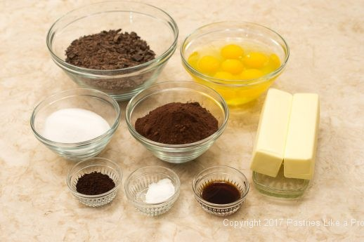 Ingredients for the Decadent Gluten Free Turtle Cake