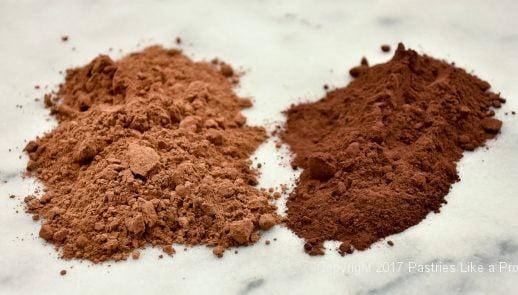 Natural and dutched cocoa for Cocoa Fundamentals Natural vs. Dutched