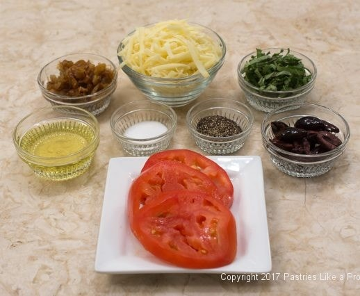 Ingredients for French Flatbread for International Flatbread