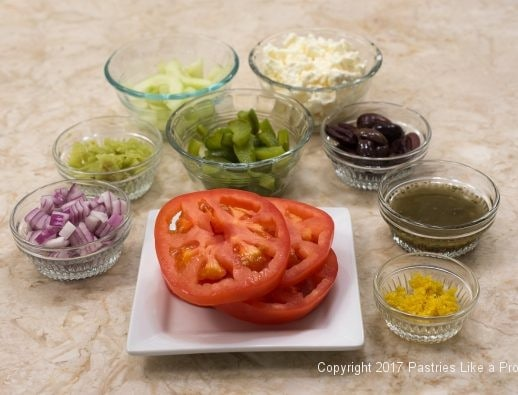 Ingredients for the Greek Flatbread for International Flatbreads