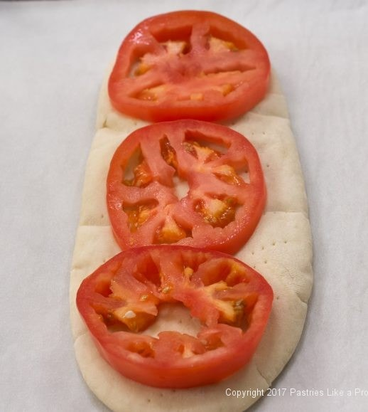 Tomatoes on Greek Flatbreads for international Flatbreads