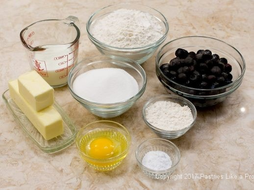 Ingredientns for the Blueberry Crumb Coffee Cake