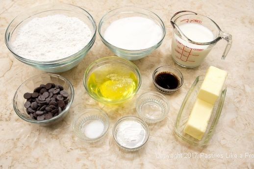 Ingredients for From 1 recipe comes 6 Cake Layers